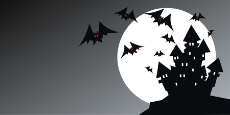 halloween header or invitation Vector
