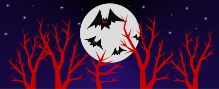 halloween header or invitation Vector