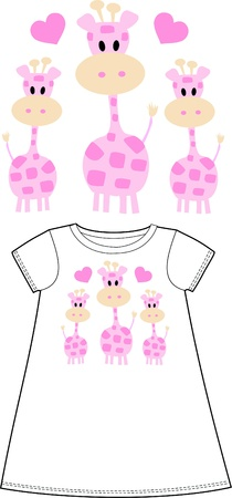wearing: pattern for children wear clothing Illustration