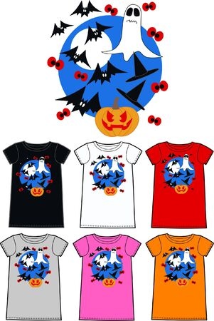 pattern for children wear clothing halloween Vector
