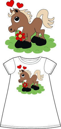 pattern for children wear clothing  Vector