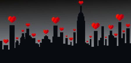 york: city skyline new york america  Illustration