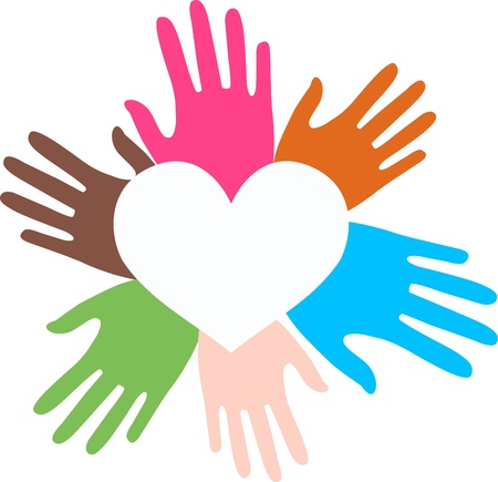 mixtos manos étnicos amor