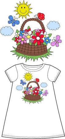 pattern for children wear Vector