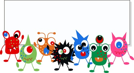monster header website Vector