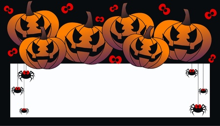 free border: happy halloween header or invitation card