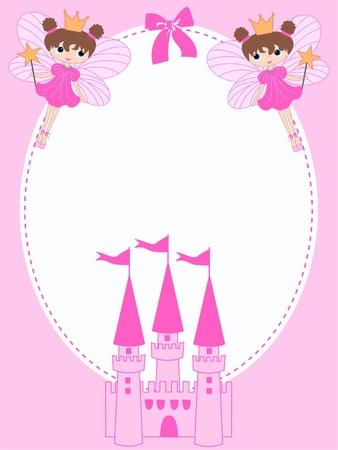 castillos de princesas: celebraci�n o invitaci�n Vectores