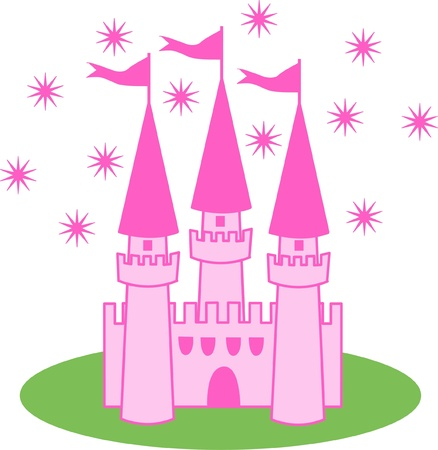 a pink castle Vector