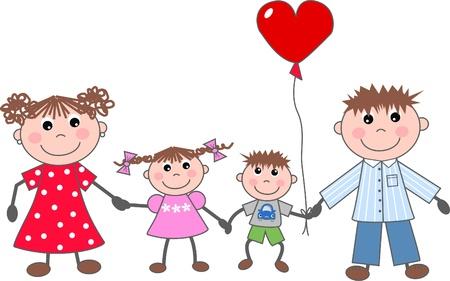 family picture: una familia feliz