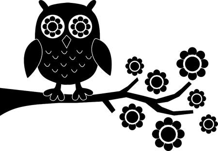a black owl