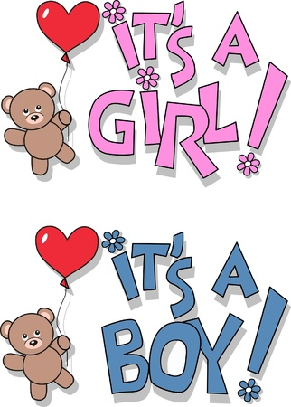 newborn baby announcement Vector