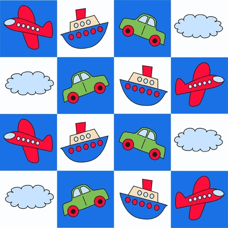 automobile industry: seamless pattern