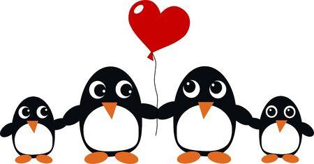 Pinguino famiglia Archivio Fotografico - 15009052