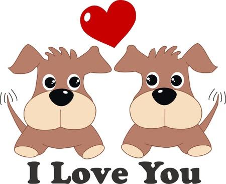 flirty: Ti amo Vettoriali