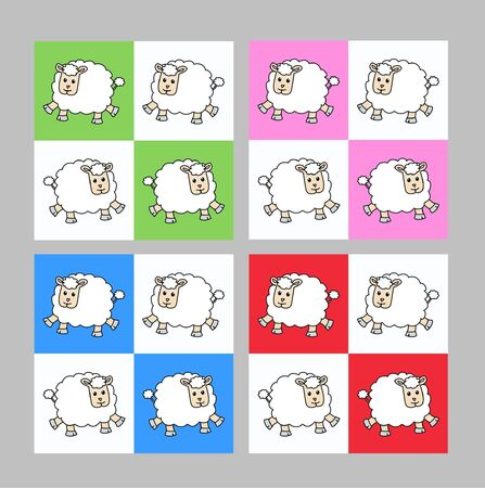 seamless lamb pattern Vector