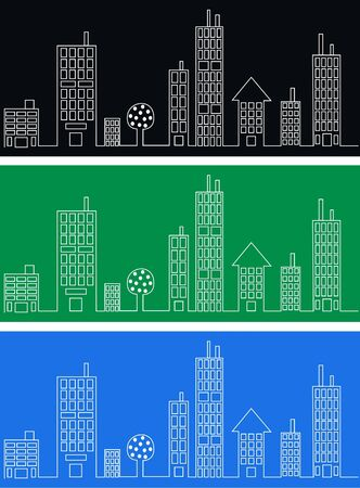 city skyline header banner Vector