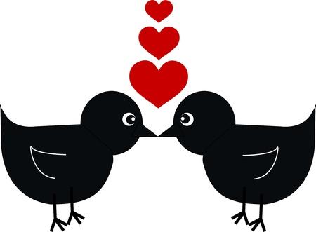 deux oiseaux dans l'amour Vecteurs