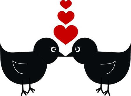 two birds in love Vector