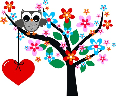 wise woman: valentines day or birthday Illustration