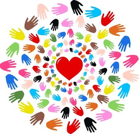 liefde vrijheid vrede vriendschap Stock Illustratie