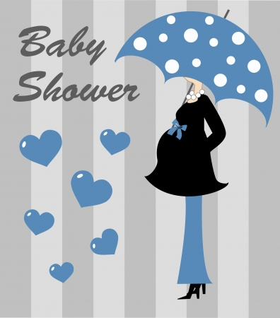 baby blue: baby shower boy Illustration