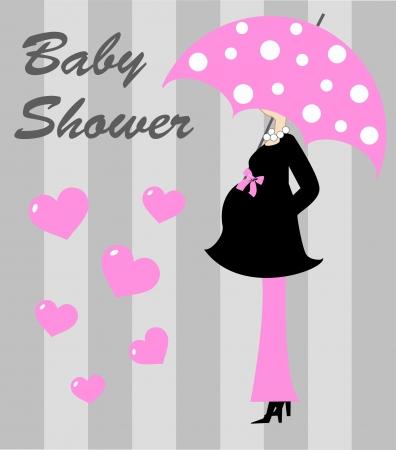 Baby-Dusche Mädchen Standard-Bild - 15518483