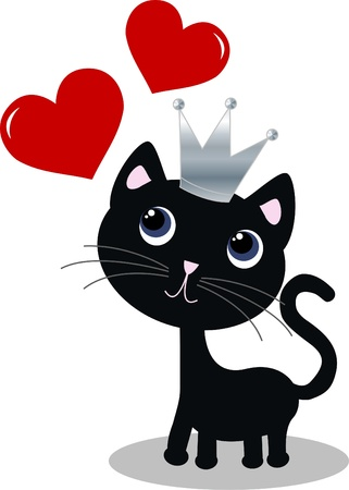black and red cat: love