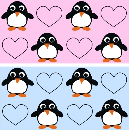 jpeg: seamless penguin pattern