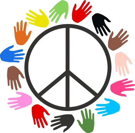 banner of peace: peace freedom diversity Illustration