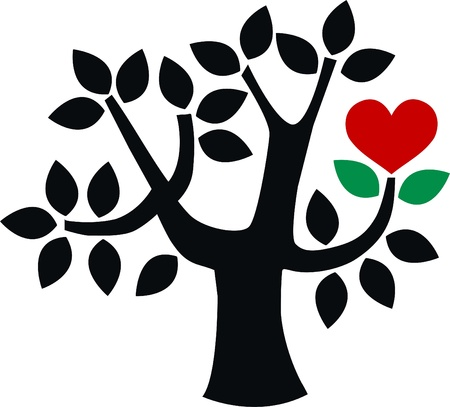 love tree Stock Vector - 15559142