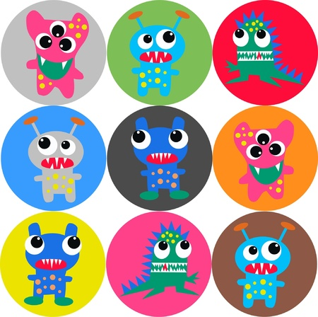seamless monster background Stock Vector - 15574095