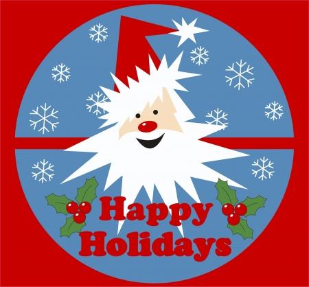 merry christmas happy holidays Stock Vector - 15713627