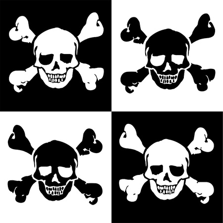 seamless scull background Vector