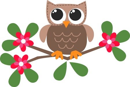 royalty free illustrations: a sweet little brown owl