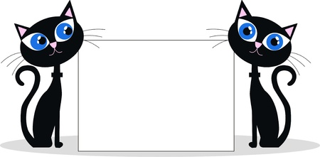 black cats header Stock Vector - 15854636