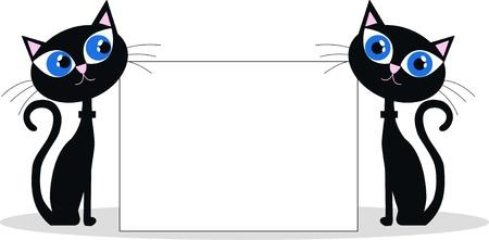 gato negro: gatos cabecera negro Vectores