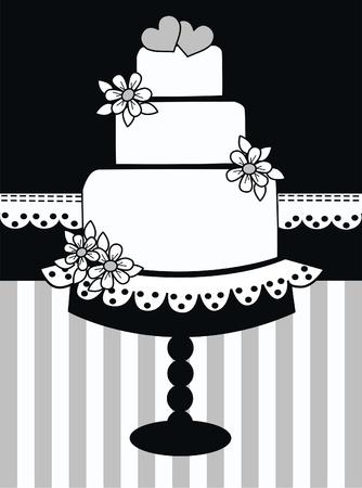 wedding invitation Stock Illustratie