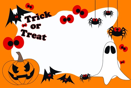 free border: happy halloween trick or treat