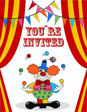 nez de clown: invitation d'anniversaire
