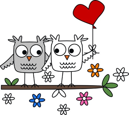 owl eye: owls in love