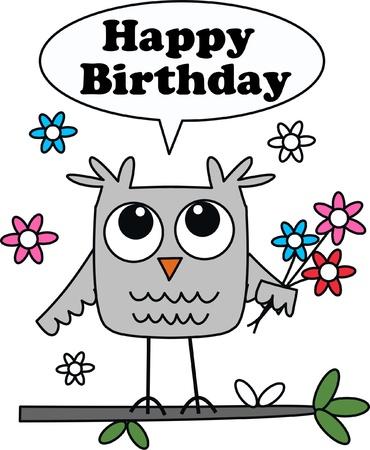 cartoons outline: happy birthday