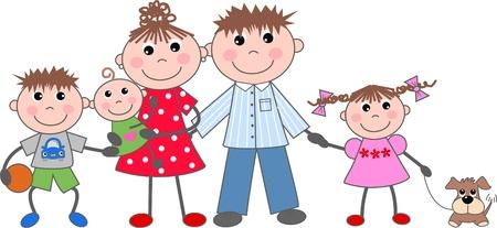 cartoons designs: famiglia Vettoriali