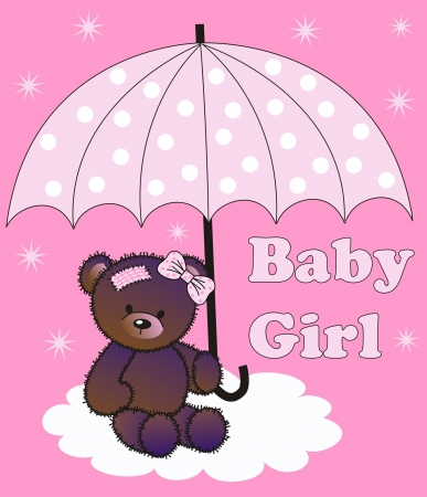 baby shower girl: baby shower girl Illustration