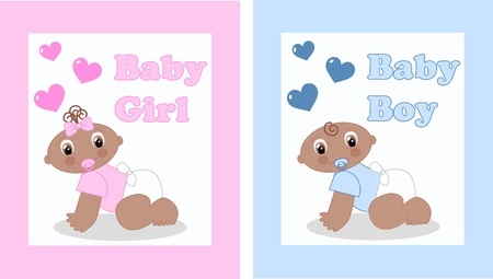 naming: baby announcement or baby shower Illustration