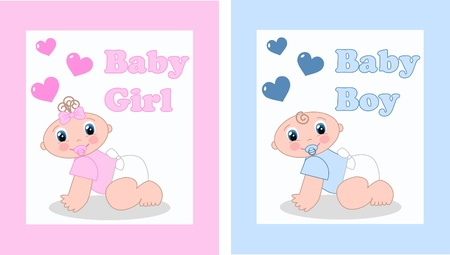 baby announcement or baby shower Vector
