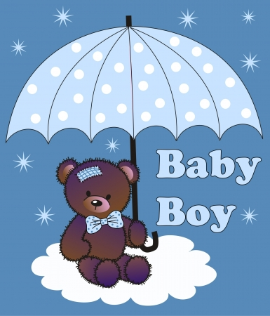jpeg: baby shower boy Illustration
