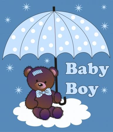 umbrellas: baby shower boy Illustration