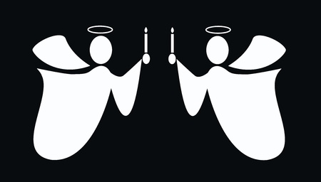 silueta de angel: �ngeles