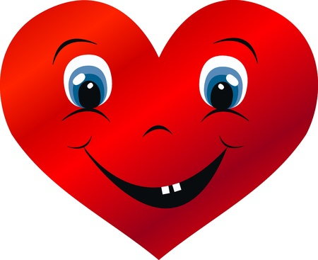 a big smiling heart love Vector
