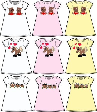 pattern for childrens wear fashion Vector